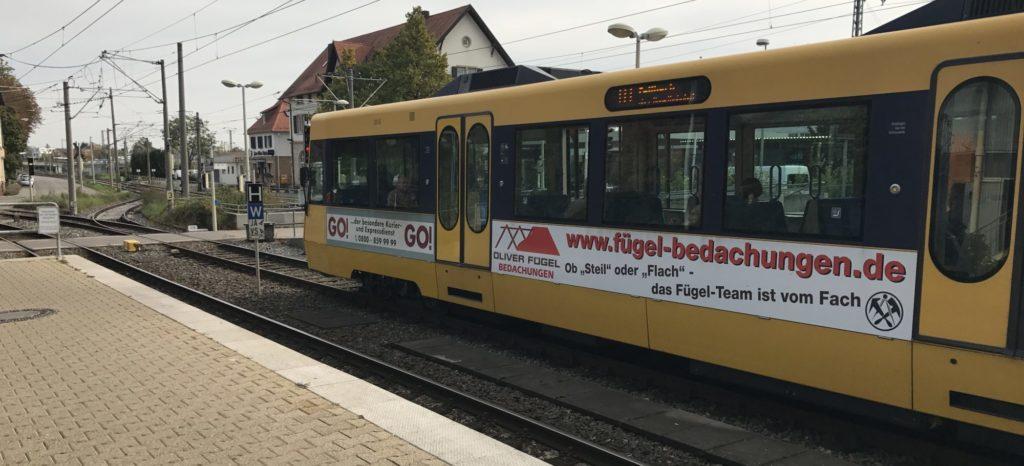S-Bahn Reklame Stuttgart